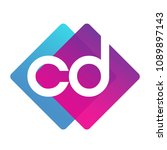 letter cd logo with colorful...   Shutterstock .eps vector #1089897143