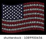 death skull pictograms are... | Shutterstock .eps vector #1089900656