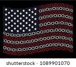 contour hexagon icons are... | Shutterstock .eps vector #1089901070