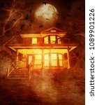 haunted house 3d illustration | Shutterstock . vector #1089901226
