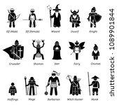 ancient medieval fantasy... | Shutterstock .eps vector #1089901844