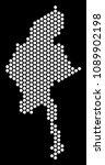 hex tile myanmar map. vector...   Shutterstock .eps vector #1089902198