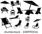 summer furniture   Shutterstock .eps vector #108990416