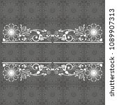 vector vintage floral ... | Shutterstock .eps vector #1089907313