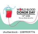 world blood day. poster design. ... | Shutterstock .eps vector #1089909776