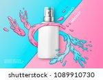 vector 3d realistic cosmetic... | Shutterstock .eps vector #1089910730