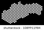 hex tile slovakia map. vector... | Shutterstock .eps vector #1089911984