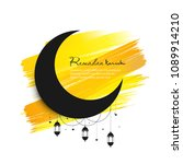 ramadan kareem background ... | Shutterstock .eps vector #1089914210