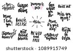 hand drawn lettering different... | Shutterstock .eps vector #1089915749