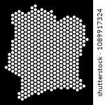 hexagonal ivory coast map.... | Shutterstock .eps vector #1089917324
