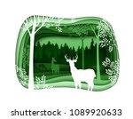 forest wilderness landscape.... | Shutterstock .eps vector #1089920633