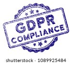 gdpr compliance stamp seal.... | Shutterstock .eps vector #1089925484