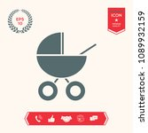 baby carriage icon   Shutterstock .eps vector #1089932159