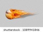 realistic vector baseball in... | Shutterstock .eps vector #1089941846