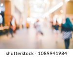 blur people walking in shopping ... | Shutterstock . vector #1089941984