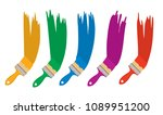 vector set of artist colorful... | Shutterstock .eps vector #1089951200