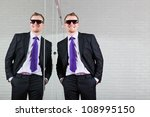 cool good looking business man... | Shutterstock . vector #108995150