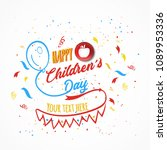 happy childrens day.... | Shutterstock .eps vector #1089953336