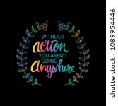 inspirational motivating quotes ... | Shutterstock .eps vector #1089954446