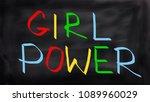 girl power illustrtation  | Shutterstock . vector #1089960029