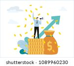 announcement vector... | Shutterstock .eps vector #1089960230