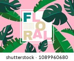 floral creative background with ... | Shutterstock .eps vector #1089960680