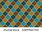 moroccan mosque window vector... | Shutterstock .eps vector #1089960764