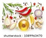 various ingredients for making... | Shutterstock . vector #1089963470
