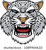 angry snow leopard head logo.... | Shutterstock .eps vector #1089964610