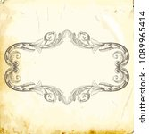 retro baroque decorations...   Shutterstock .eps vector #1089965414