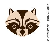 raccoon face head vector... | Shutterstock .eps vector #1089965816