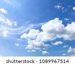 blue sky clouds background | Shutterstock . vector #1089967514