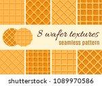 set of seamless pattern. the... | Shutterstock .eps vector #1089970586