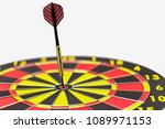 close up shot dart arrow on... | Shutterstock . vector #1089971153