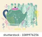 colorful doodle illustration... | Shutterstock .eps vector #1089976256