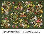 colorful vector hand drawn... | Shutterstock .eps vector #1089976619