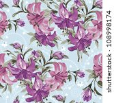 vector seamless floral pattern... | Shutterstock .eps vector #108998174