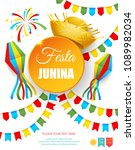 festa junina   text in... | Shutterstock .eps vector #1089982034