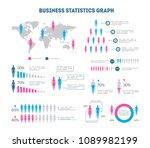 cartoon business statistics... | Shutterstock .eps vector #1089982199