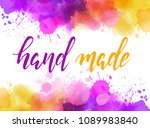 abstract background banner with ... | Shutterstock .eps vector #1089983840