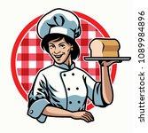 chef woman design   Shutterstock .eps vector #1089984896