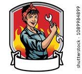 mechanic women design | Shutterstock .eps vector #1089984899