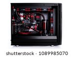 open computer with water cooled ... | Shutterstock . vector #1089985070