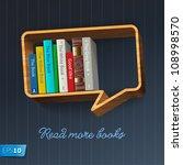 bookshelf in the form of speech ... | Shutterstock .eps vector #108998570