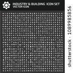 industrial vector icon set | Shutterstock .eps vector #1089985856