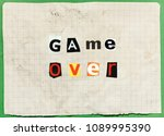 an anonymous letter with... | Shutterstock . vector #1089995390