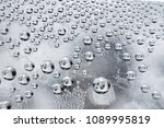 water droplets on a glass...   Shutterstock . vector #1089995819