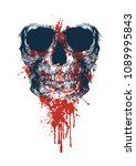 scary skull illustration | Shutterstock .eps vector #1089995843