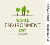 world environment day.... | Shutterstock .eps vector #1089999200