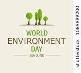 world environment day.... | Shutterstock .eps vector #1089999200